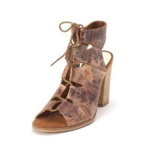 Diba True Tren Dee Leather Lace Up Heeled Sandal